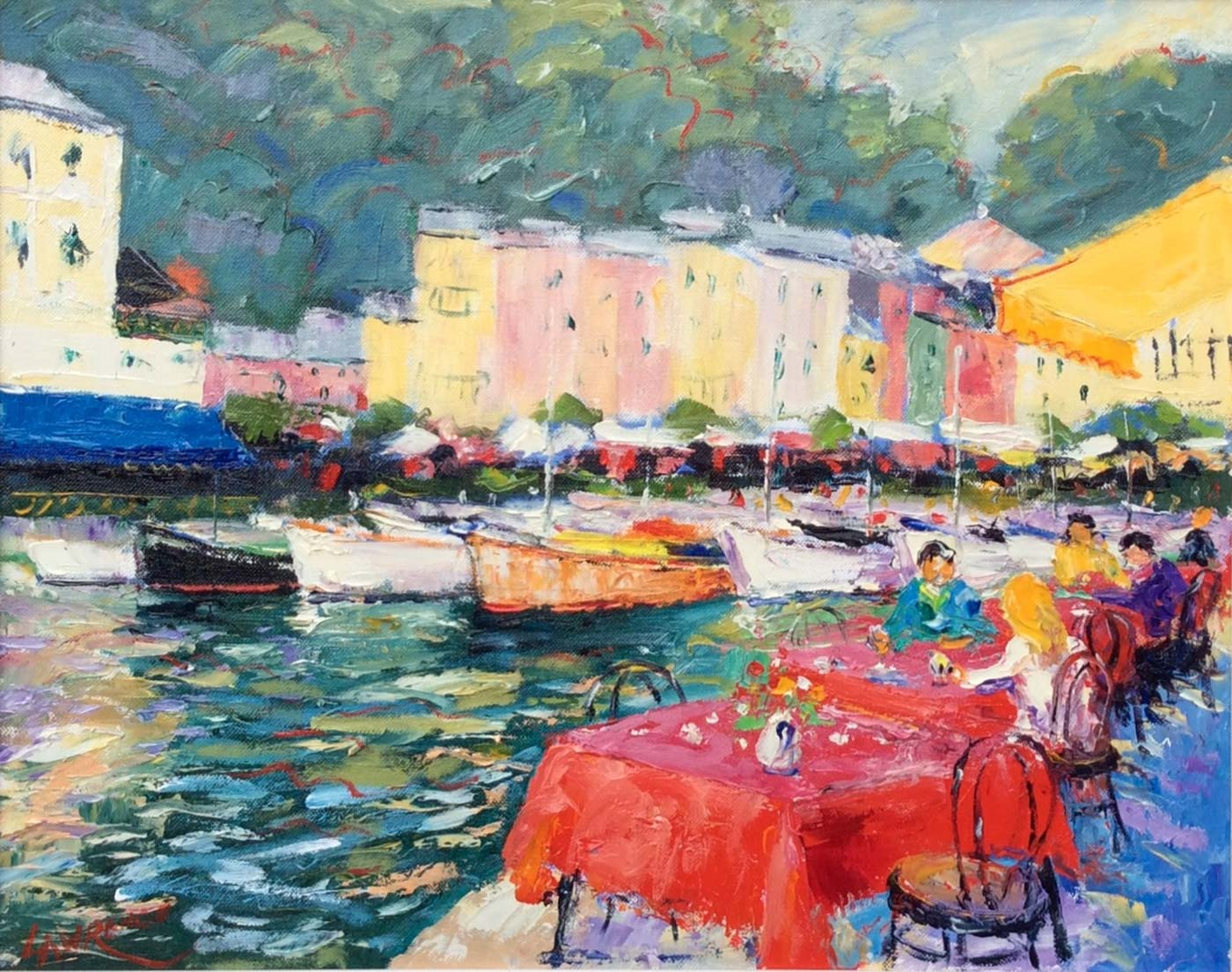 Harbour Side Cafe - Portofino, Italy