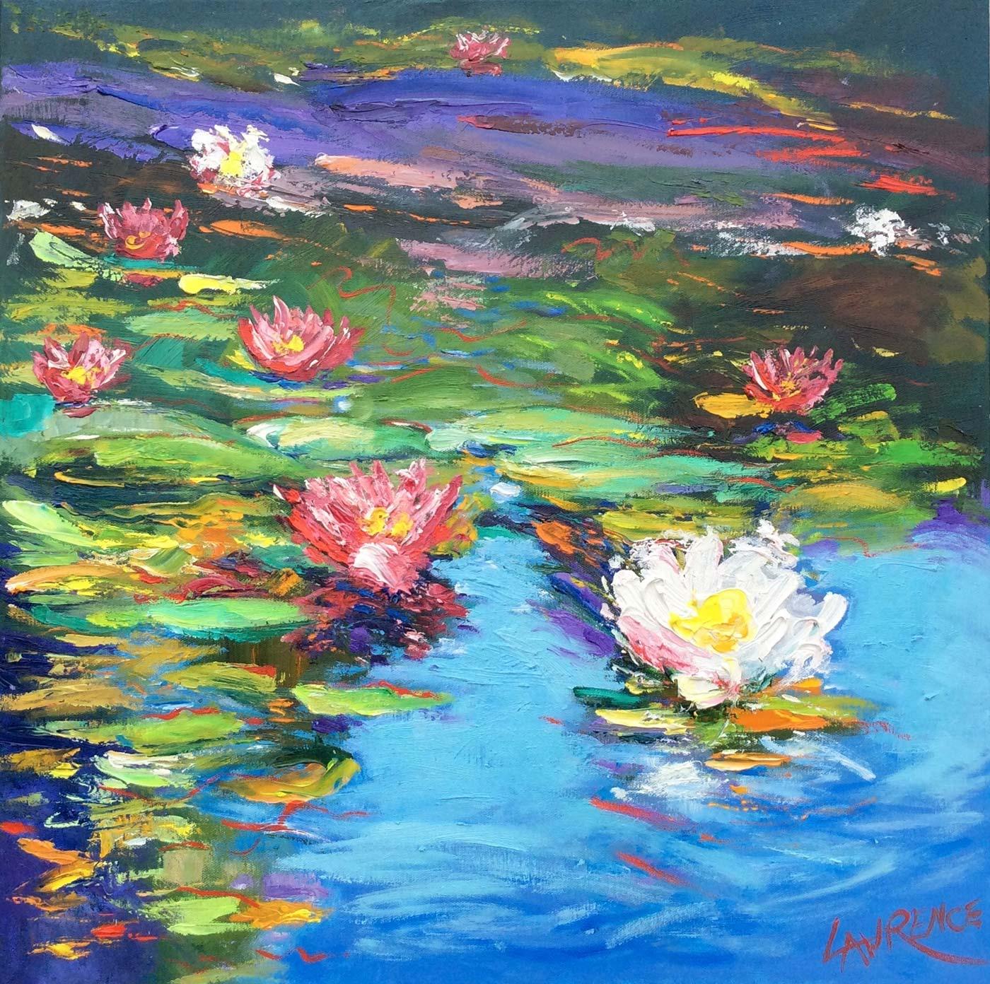 Study Of Waterlillies - Chiddingfold, Surrey