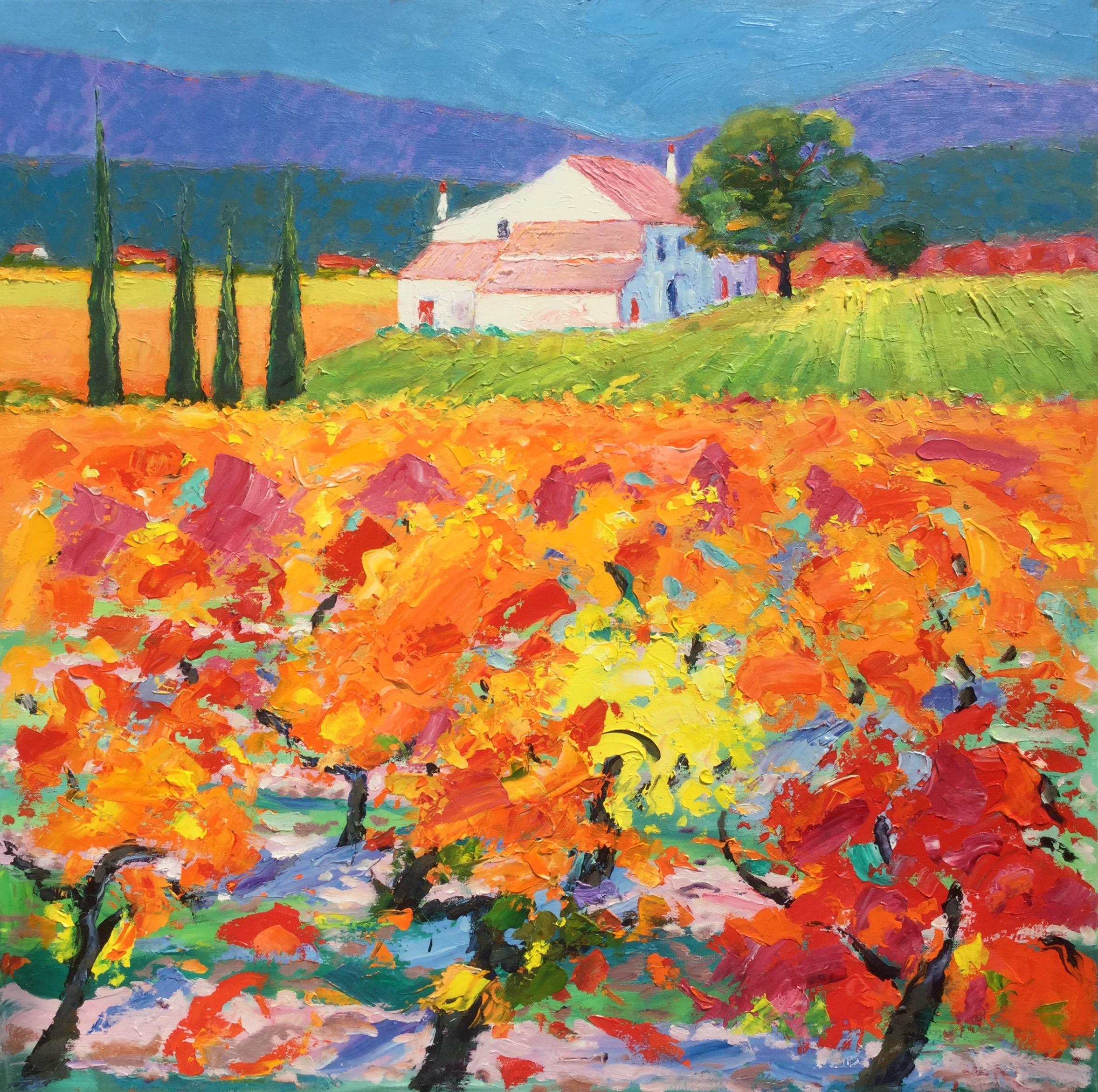 Farmhouse And Vines Provence France John Lawrence
