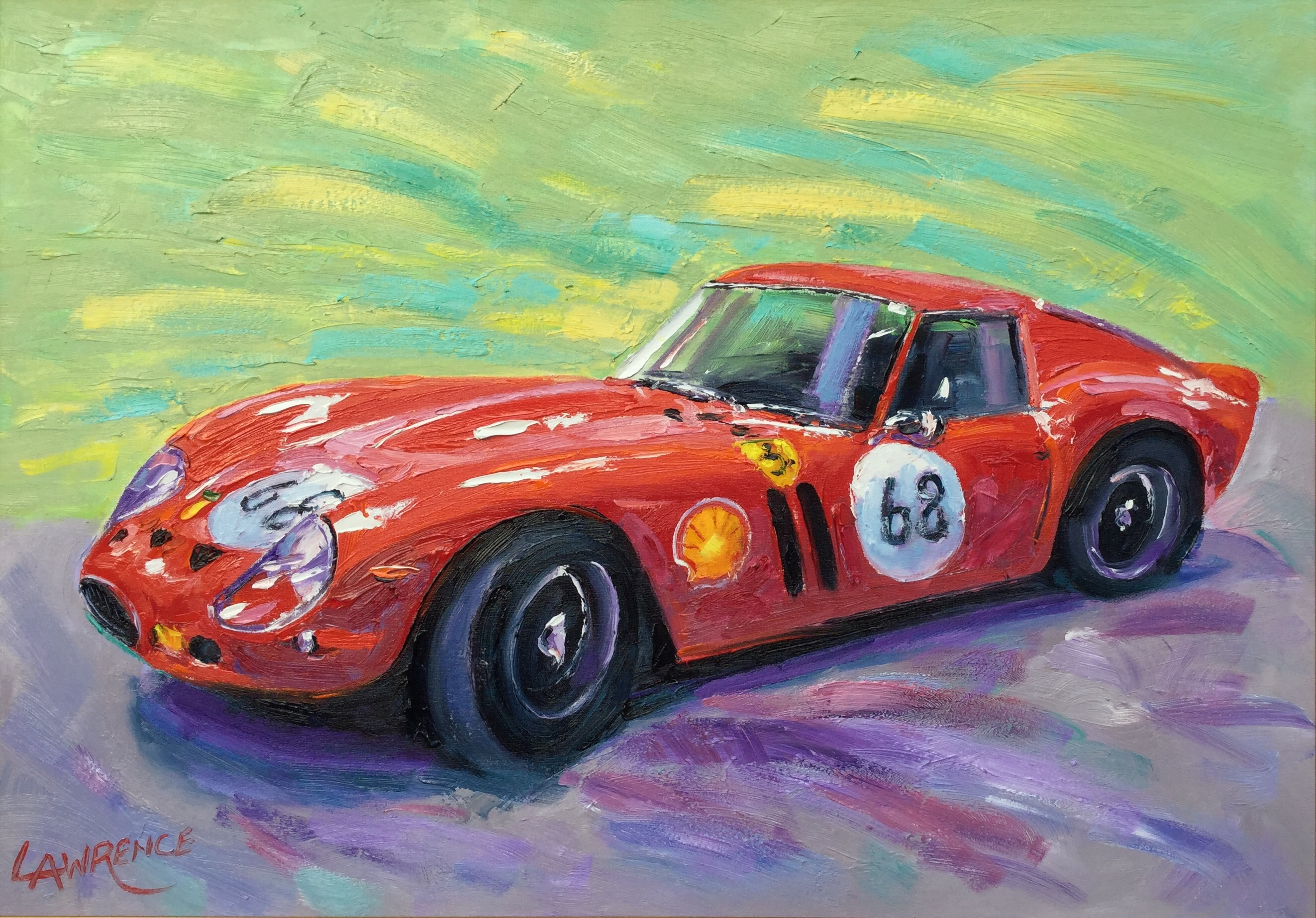 Ferrari 250 Gtb John Lawrence Paintings